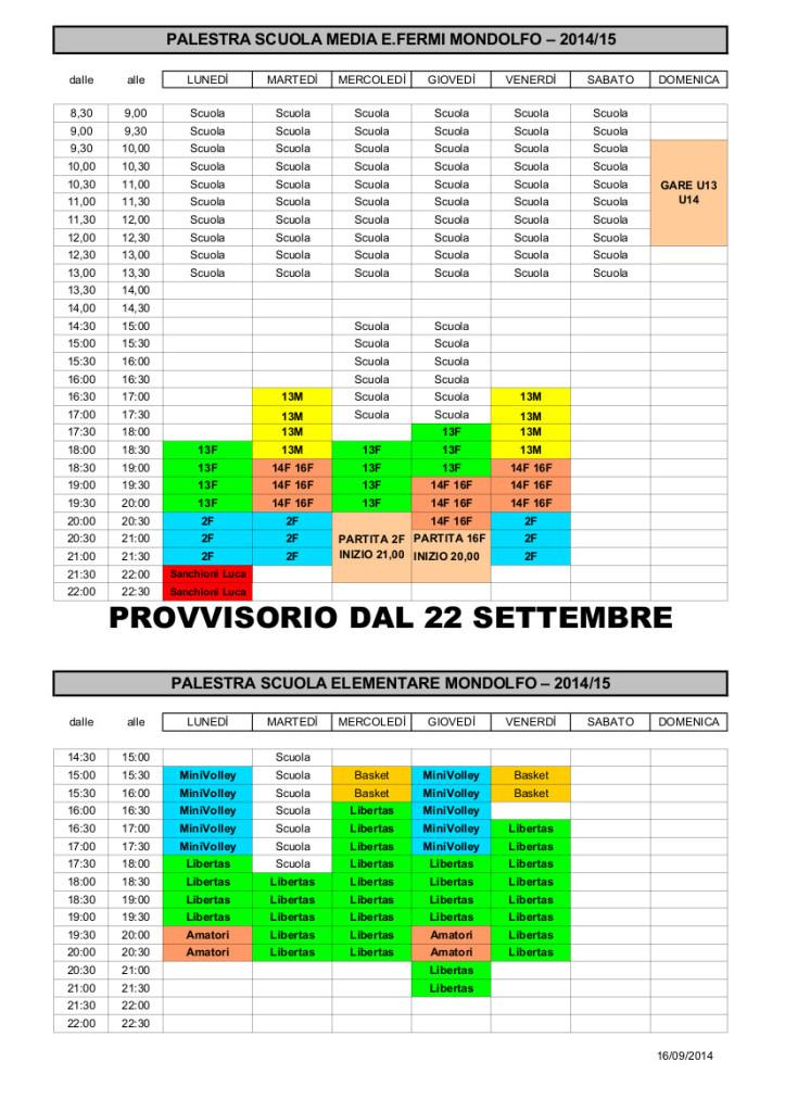 Orari Palestra E Fermi PROV 2 Revisione 2014 2015